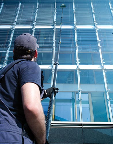 Solar panel cleaning by Crysta Services group